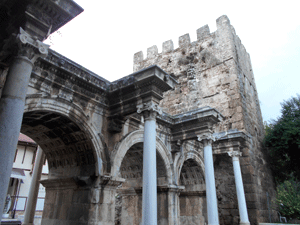 Hadrian's gate into old city Antalya