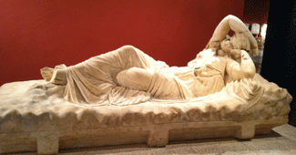 Sarcophagus with Artemis figure, Antalya Museum