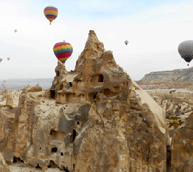 Above the fairy chimneys