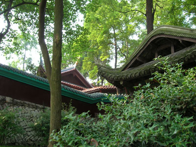 Temple roofs in Qianling Park