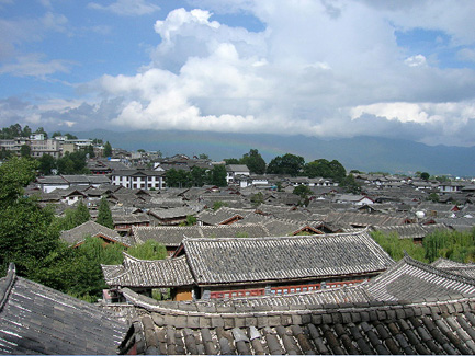 Rainbow over Old Town Lijiang