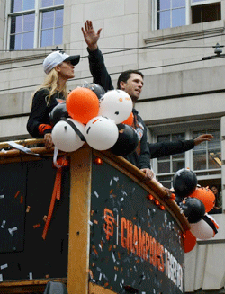 The Poseys in the World Series parade